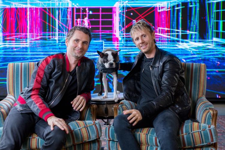 Matt Bellamy (L) and Dominic Howard of Muse.