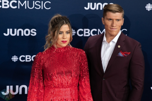 LONDON, ON - MARCH 17: The Reklaws attend the 2019 Juno Awards red carpet at Budweiser Gardens in London, Ontario on March 17, 2019. (Photo: Brendan Albert/Aesthetic Magazine)