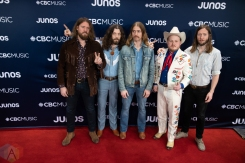 LONDON, ON - MARCH 17: The Sheepdogs attend the 2019 Juno Awards red carpet at Budweiser Gardens in London, Ontario on March 17, 2019. (Photo: Brendan Albert/Aesthetic Magazine)
