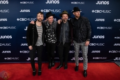 LONDON, ON - MARCH 17: The Trews attend the 2019 Juno Awards red carpet at Budweiser Gardens in London, Ontario on March 17, 2019. (Photo: Brendan Albert/Aesthetic Magazine)
