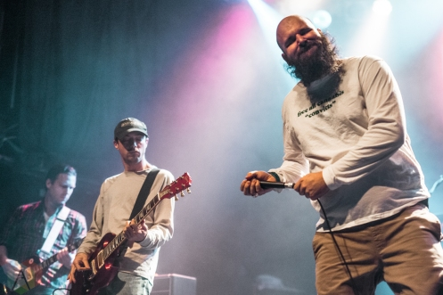 TORONTO, ON - APRIL 25: Fucked Up performs at Phoenix Concert Theatre in Toronto on April 25, 2019. (Photo: Joanna Glezakos/Aesthetic Magazine)
