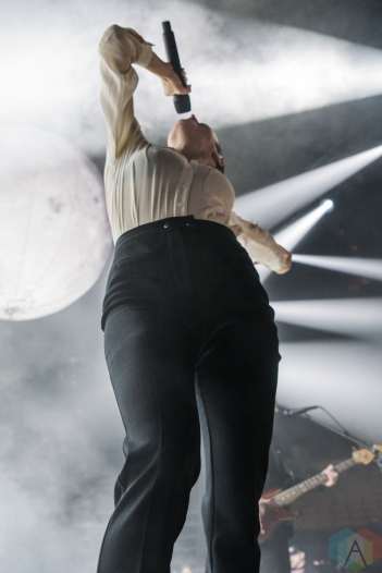 TORONTO, ON - APRIL 26: July Talk performs at Scotiabank Arena in Toronto on April 26, 2019. (Photo: Tyler Roberts/Aesthetic Magazine)
