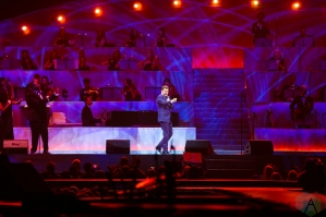 LOS ANGELES, CA - APRIL 02: Michael Buble performs at Staples Center in Los Angeles on April 02, 2019. (Photo: Melanie Escombe/Aesthetic Magazine)