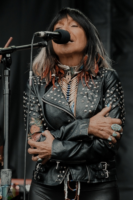 TORONTO, ON - MAY 25: Buffy Sainte-Marie performs at Echo Beach in Toronto on May 25, 2019. (Photo: Kelsey Giesbrecht/Aesthetic Magazine)