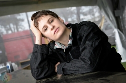 BOSTON, MASS - MAY 24: Christine and the Queens poses for a portrait at Boston Calling in Boston on May 24, 2019. (Photo: Alx Bear/Aesthetic Magazine)