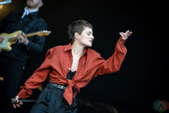 BOSTON, MASS - MAY 24: Christine and the Queens performs at Boston Calling in Boston on May 24, 2019. (Photo: Alx Bear/Aesthetic Magazine)