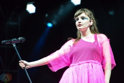 BOSTON, MASS - MAY 24: CHVRCHES performs at Boston Calling in Boston on May 24, 2019. (Photo: Alx Bear/Aesthetic Magazine)
