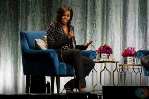 TORONTO, ON - MAY 04: Michelle Obama appears at Scotiabank Arena in Toronto on May 04, 2019. (Photo: Angelo Marchini/Aesthetic Magazine)