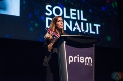TORONTO, ON - MAY 13: Soleil Denault appears at the Prism Prize gala at TIFF Lightbox in Toronto on May 13, 2019. (Photo: Joanna Glezakos/Aesthetic Magazine)