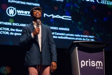 TORONTO, ON - MAY 13: Dino Archie appears at the Prism Prize gala at TIFF Lightbox in Toronto on May 13, 2019. (Photo: Joanna Glezakos/Aesthetic Magazine)