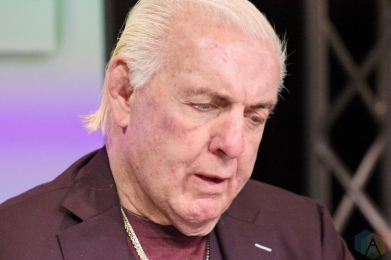 MISSISSAUGA, ON - MAY 04: Ric Flair signs autographs at the Sport Card & Memorabilia Expo at The International Centre in Mississauga, Ontario on May 04, 2019. (Photo: Curtis Sindrey/Aesthetic Magazine)
