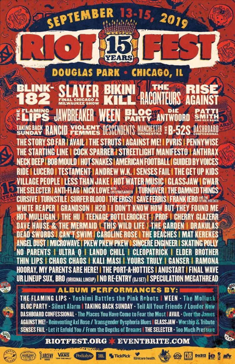Contest: Win 2 GA Passes to Riot Fest 2019! | Aesthetic