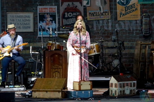 TORONTO, ON - JUNE 21: Alison Krauss performs at Budweiser Stage in Toronto on June 21, 2019. (Photo: Michael Hurcomb/Aesthetic Magazine)