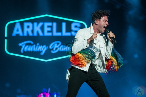 TORONTO, ON - JUNE 22: Arkells performs at Budweiser Stage in Toronto on June 22, 2019. (Photo: Joanna Glezakos/Aesthetic Magazine)