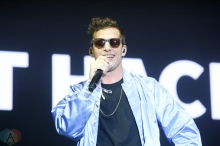 MANCHESTER, TN - JUNE 15: Andy Samberg of The Lonely Island performs at Bonnaroo on June 15, 2019. (Photo: Michael Hurcomb/Aesthetic Magazine)