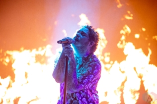 MANCHESTER, TN - JUNE 15: Post Malone performs at Bonnaroo on June 15, 2019. (Photo: Michael Hurcomb/Aesthetic Magazine)