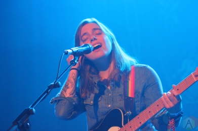 CALGARY, AB - JUNE 22: Julien Baker performs at Sled Island Festival at Palace Theatre in Calgary on June 22, 2019. (Photo: Curtis Sindrey/Aesthetic Magazine)