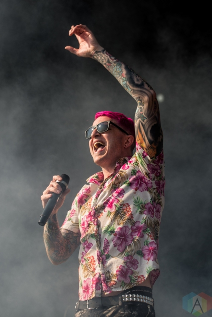 TORONTO, ON - JULY 03: Atreyu performs at Disrupt Festival at Echo Beach in Toronto on July 03, 2019. (Photo: Joanna Glezakos/Aesthetic Magazine)