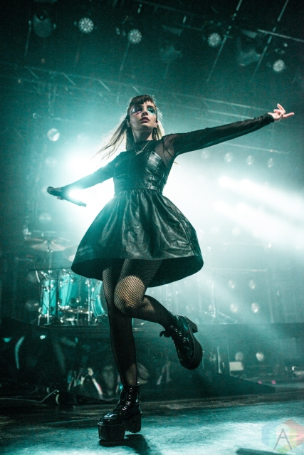 TORONTO, ON - JULY 08: CHVRCHES performs at Rebel in Toronto on July 08, 2019. (Photo: Joanna Glezakos/Aesthetic Magazine)