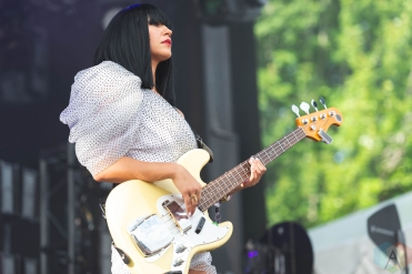 CHICAGO, IL - JULY 21: Khruangbin performs at Pitchfork Music Festival in Chicago on July 21, 2019. (Photo: Katie Kuropas/Aesthetic Magazine)