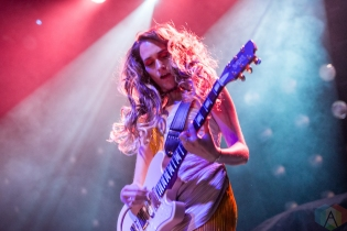 TORONTO, ON - JULY 07: Speedy Ortiz performs at Rebel in Toronto on July 07, 2019. (Photo: Joanna Glezakos/Aesthetic Magazine)