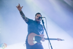 TORONTO, ON - JULY 03: Thrice performs at Disrupt Festival at Echo Beach in Toronto on July 03, 2019. (Photo: Joanna Glezakos/Aesthetic Magazine)