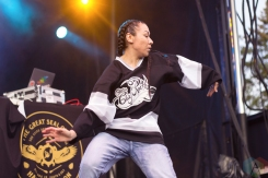 ELORA, ON - AUGUST 18: A Tribe Called Red performs at Riverfest Elora on August 18, 2019. (Photo: Dakota Arsenault/Aesthetic Magazine)