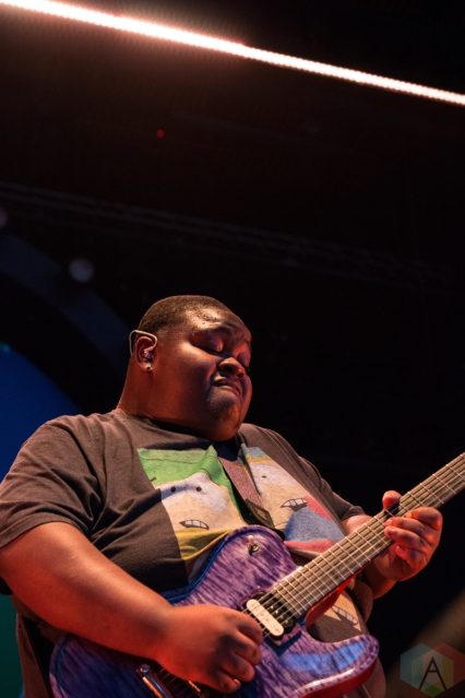 "COLUMBIA, MD - AUGUST 29 - Christone ""Kingfish"" Ingram performs at Merriweather Post Pavilion in Columbia, MD on August 29, 2019. (Photo: Lauren Fuchs/Aesthetic Magazine)"