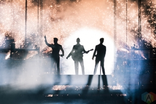 TORONTO, ON - AUG. 23 - Jonas Brothers performs at Scotiabank Arena in Toronto on August 23, 2019. (Photo: Jenna Hum/Aesthetic Magazine)