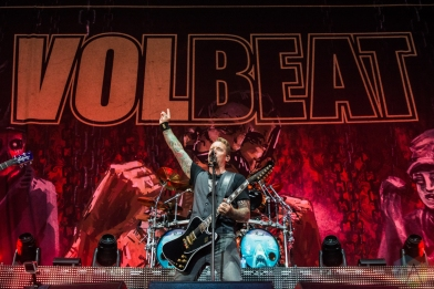 TORONTO, ON - AUGUST 20: Volbeat performs at Budweiser Stage in Toronto on August 20, 2019. (Photo: Tyler Roberts/Aesthetic Magazine)