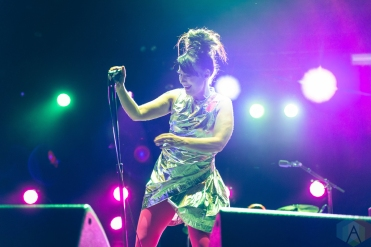 CHICAGO, IL - SEPT. 15 - Bikini Kill performs at Riot Fest in Chicago on September 15, 2019. (Photo: Katie Kuropas/Aesthetic Magazine)