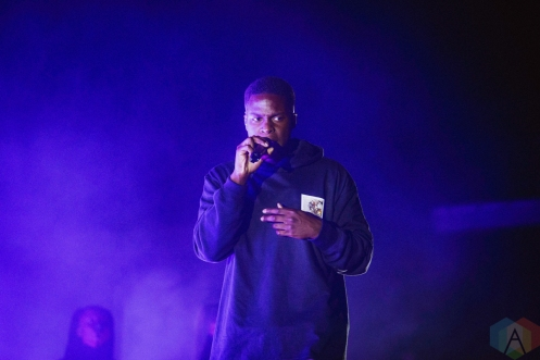 TORONTO, ON - SEPTEMBER 28: Daniel Caesar performs at Budweiser Stage in Toronto on September 28, 2019. (Photo: Anton Mak/Aesthetic Magazine)