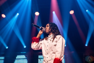 TORONTO, ON - SEPTEMBER 16: Haviah Mighty performs at the Polaris Music Prize gala at The Carlu in Toronto on September 16, 2019. (Photo: Brendan Albert/Aesthetic Magazine)