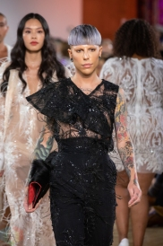 TORONTO, ON - SEPTEMBER 05: Lesley Hampton runaway show at Toronto Fashion Week on September 05, 2019. (Photo: Brendan Albert/Aesthetic Magazine)