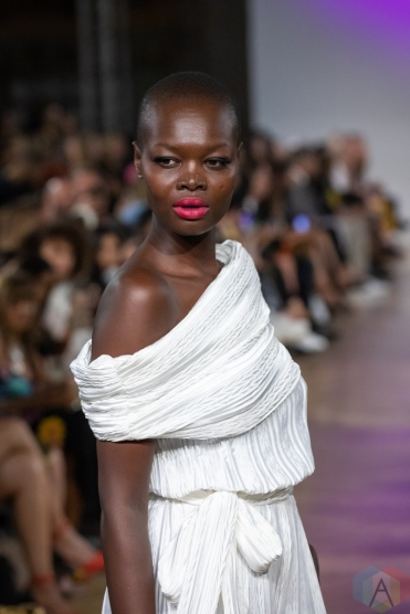 TORONTO, ON - SEPTEMBER 04: NARCES runaway show at Toronto Fashion Week on September 04, 2019. (Photo: Brendan Albert/Aesthetic Magazine)