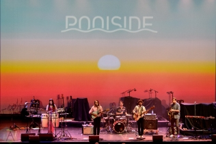 TORONTO, ON - SEPTEMBER 16: Poolside performs at Meridian Hall in Toronto on September 16, 2019. (Photo: Julian Avram/Aesthetic Magazine)