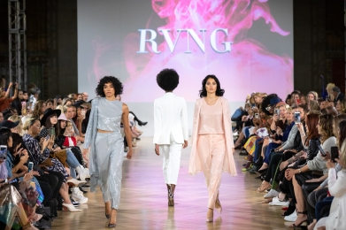 TORONTO, ON - SEPTEMBER 04: RVNG runaway show at Toronto Fashion Week on September 04, 2019. (Photo: Brendan Albert/Aesthetic Magazine)
