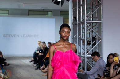 TORONTO, ON - SEPTEMBER 03: Steven Lejambe runaway show at Toronto Fashion Week on September 03, 2019. (Photo: Brendan Albert/Aesthetic Magazine)