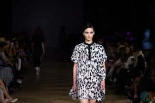 TORONTO, ON - SEPTEMBER 05: Trigere runaway show at Toronto Fashion Week on September 05, 2019. (Photo: Brendan Albert/Aesthetic Magazine)