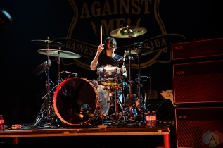 TORONTO, ON - OCTOBER 15: Against Me performs at Danforth Music Hall in Toronto on October 15, 2019. (Photo: Tyler Roberts/Aesthetic Magazine)