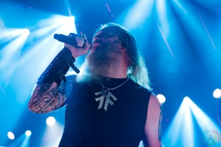 TORONTO, ON - OCTOBER 09: Amon Amarth performs at Rebel in Toronto on October 09, 2019. (Photo: Tyler Roberts/Aesthetic Magazine)