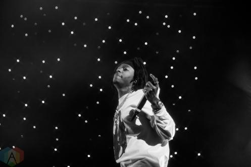 TORONTO, ON - NOVEMBER 13: J.I.D performs at Scotiabank Arena in Toronto on November 13, 2019. (Photo: Brandon Newfield/Aesthetic Magazine