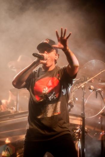 TORONTO, ON - NOVEMBER 13: Logic performs at Scotiabank Arena in Toronto on November 13, 2019. (Photo: Brandon Newfield/Aesthetic Magazine