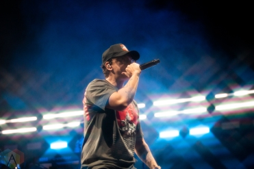 TORONTO, ON - NOVEMBER 13: Logic performs at Scotiabank Arena in Toronto on November 13, 2019. (Photo: Brandon Newfield/Aesthetic Magazine