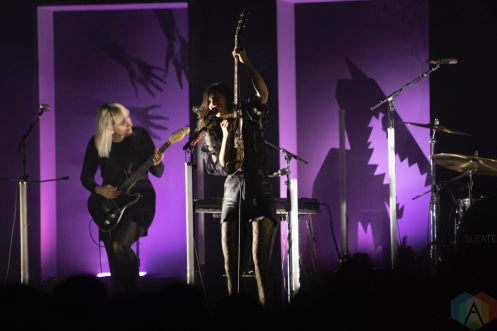 TORONTO, ON - NOVEMBER 03: Sleater Kinney performs at Rebel in Toronto on November 03, 2019. (Photo: Michael Hurcomb/Aesthetic Magazine)