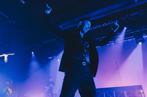 MANCHESTER, UK - FEBRUARY 12 - Frank Carter performs at Manchester Academy in Manchester, UK on February 12, 2019. (Photo: Priti Shikotra/Aesthetic Magazine)