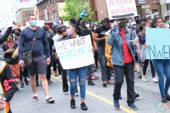 TORONTO, ON - MAY 30: Protestors march in solidarity with family of Regis Korchinski-Paquet in Toronto on May 30, 2020. (Photo: Morgan Harris/Aesthetic Magazine)