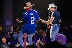 NOBLESVILLE, Ind. - Jul. 31: Brad Paisley and Jimmie Allen perform at the Ruoff Music Center in Noblesville, Ind. on July 31, 2021. (Photo: Jessica Branstetter/Aesthetic Magazine)