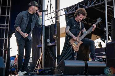 EDMONTON, AB – Aug. 20: Default performs at the Racetrack Infield in Edmonton, AB. on August 20, 2021. (Photo: Tyler Roberts/Aesthetic Magazine)