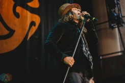 NOBLESVILLE, Ind. - Aug. 1: Dirty Honey performs at the Ruoff Home Mortgage Music Center in Noblesville, Ind. on August 1, 2021. (Photo: Jessica Branstetter/Aesthetic Magazine)